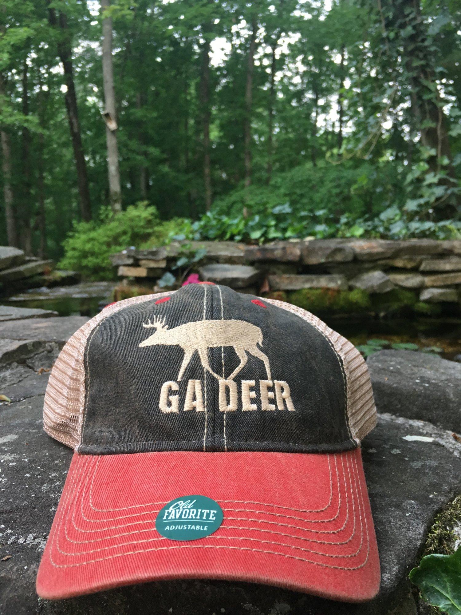 1bb958e26 Legacy Old Favorite Trucker Hat: Black & Scarlet — MyTrophyBuck.com