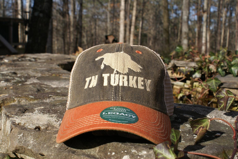 53b1779e2dd02 BLACK   TN ORANGE TN TURKEY LEGACY OLD TRUCKER HAT — MyTrophyBuck.com