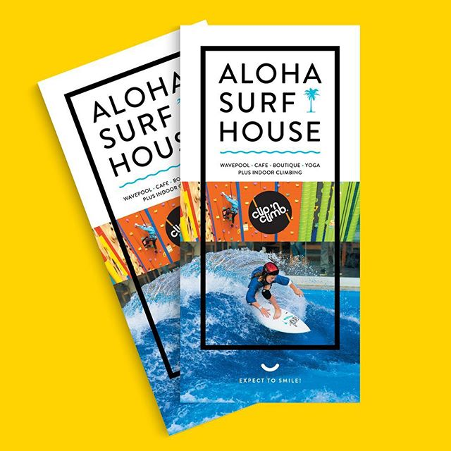 Stoked to see @aloha.surfhouse making a splash in the community. Check out all the good things happening there! This little brochure designed to help spread the word. - - #insomniadesign #branding #design #alohasurfhouse #brochuredesign