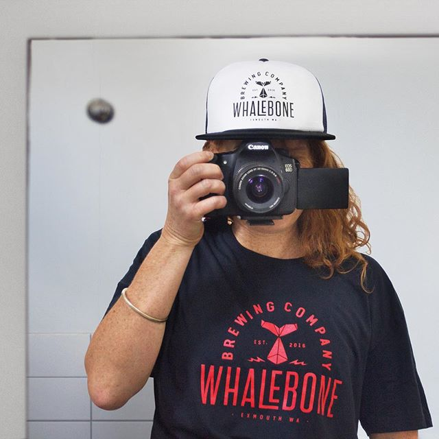 Brew kings from the North @whalebonebrewing called in today to grab some new merch for their stand at this weekend's BeerFest in Freo (9-11th Nov Esplanade Park). Swing by the Whalebone stall and sample their fine wares down at the festival.  Caps, shirts: insomnia design  #insomniadesign #design #branding #beer #exmouth #brewery #beerfest