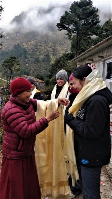 fall 2018 nuns presenting khatas to the voluneers.jpeg