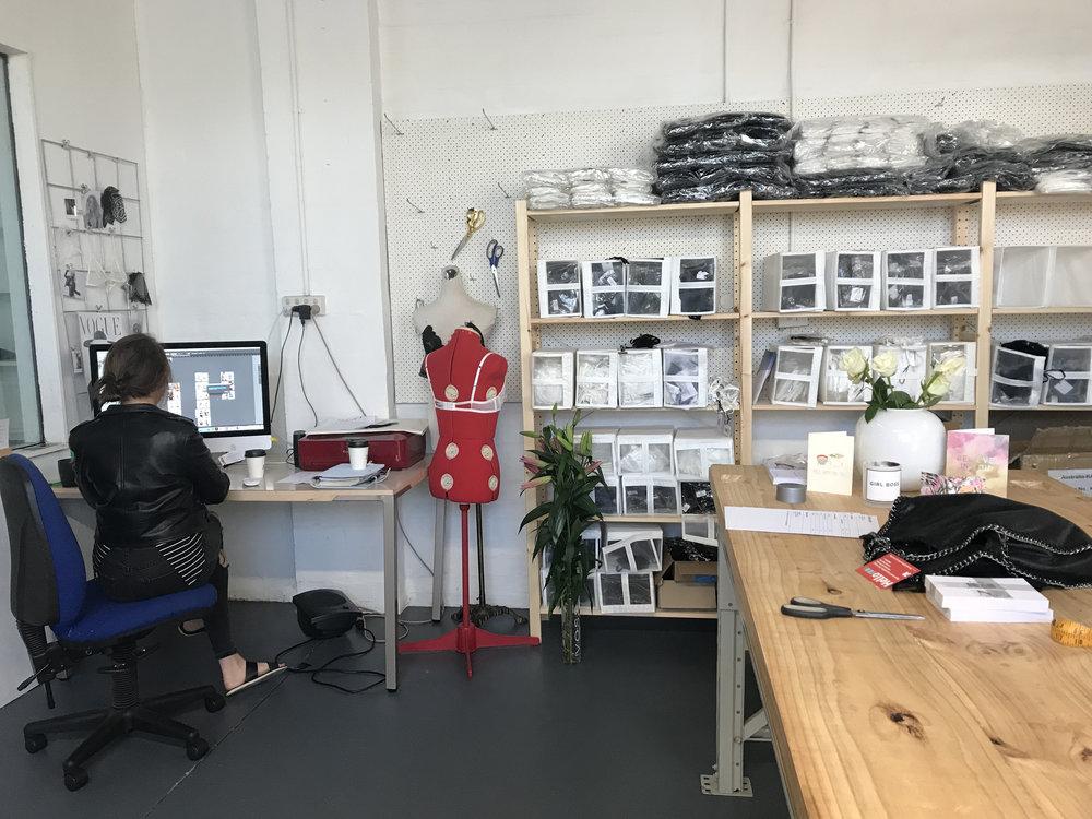 Kate at the new Kat HQ