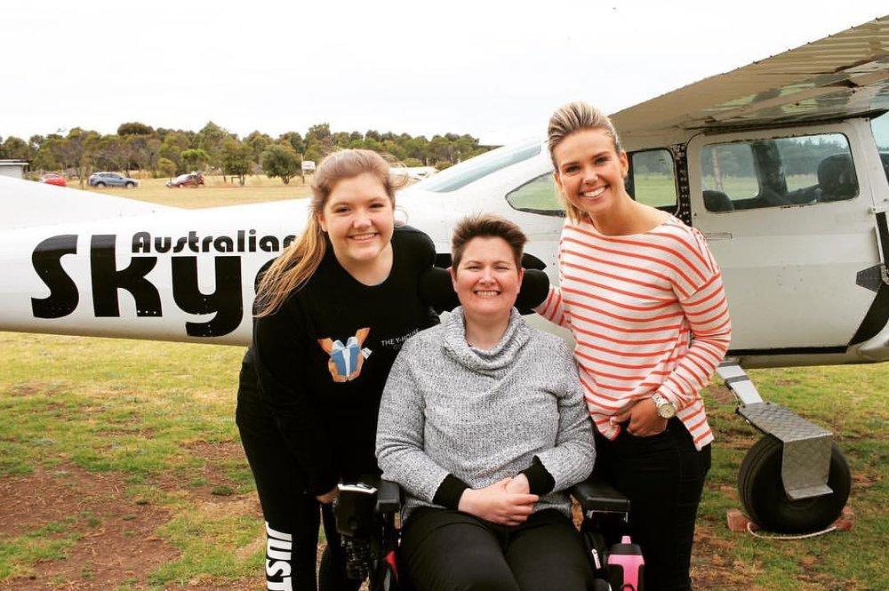 Georgia with Angela Barker and Edwina Bartholomew.