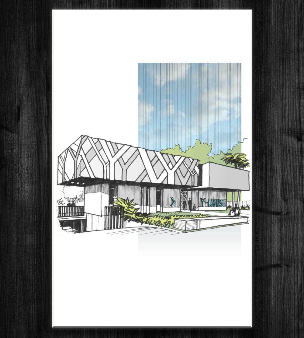 Plans for the Y-House (Front view)