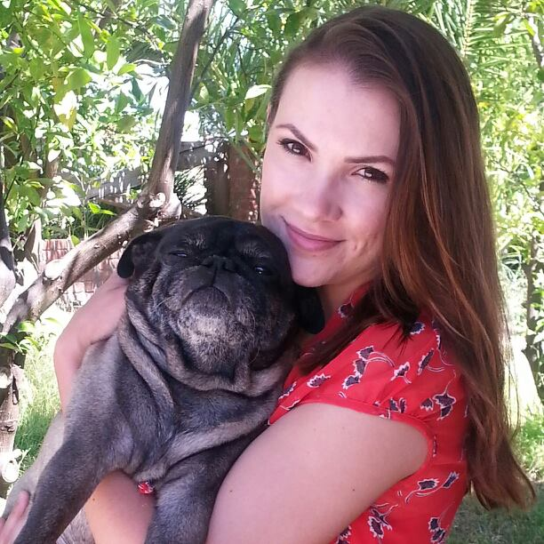 Angella and her pug Buddy