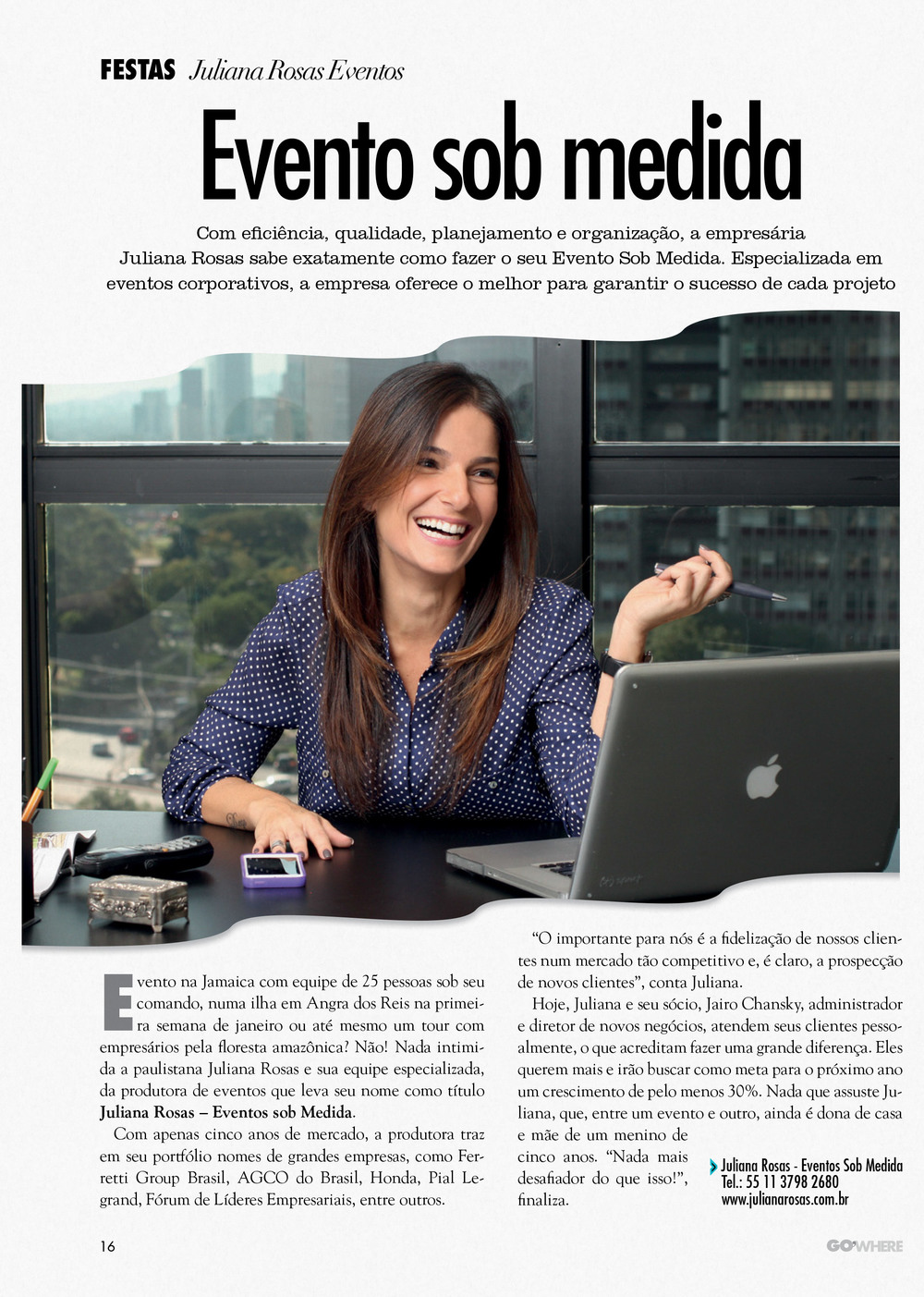 Revista Go'Where Luxo  Evento sob Medida