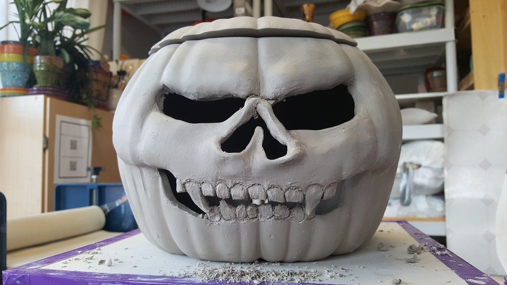 Another pumpkin.  This mold is plain and is great because the faces you can make are endless!