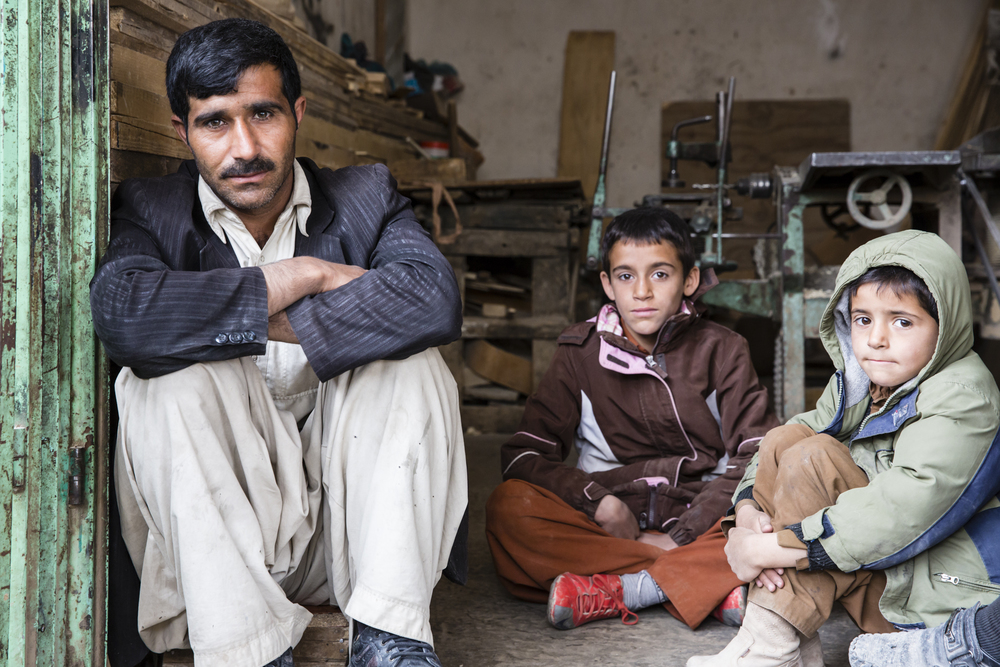 Farahi man and his children (Farah, Afghanistan).