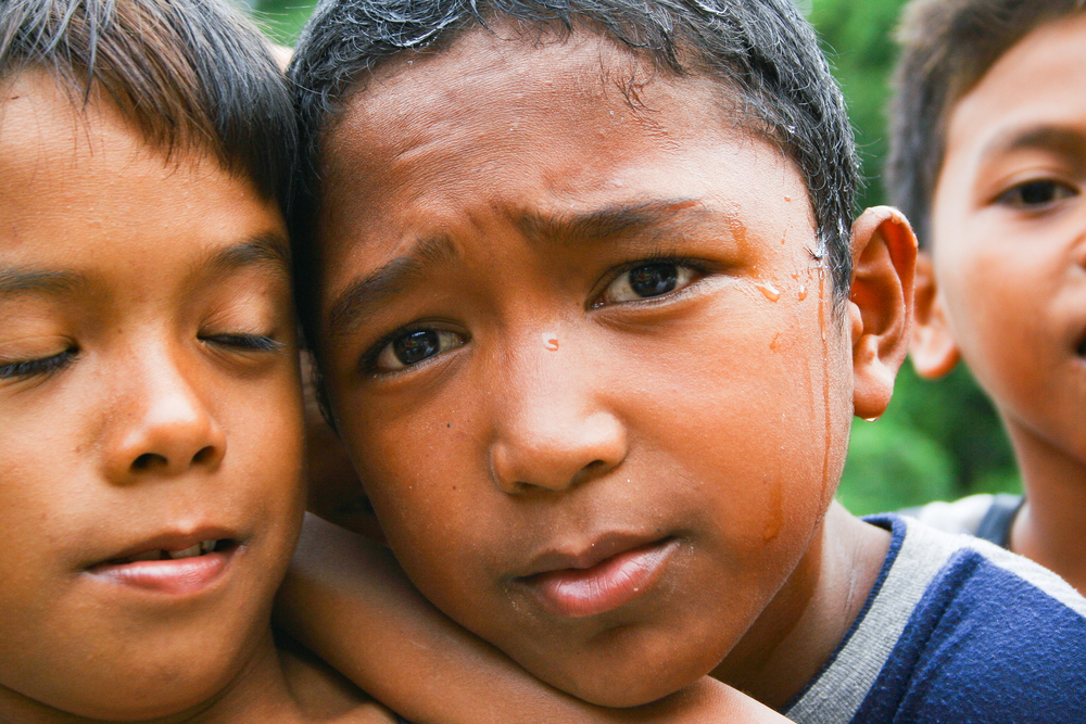 Two boys at an orphanage in Saint Bernard, Leyte, Philippines.