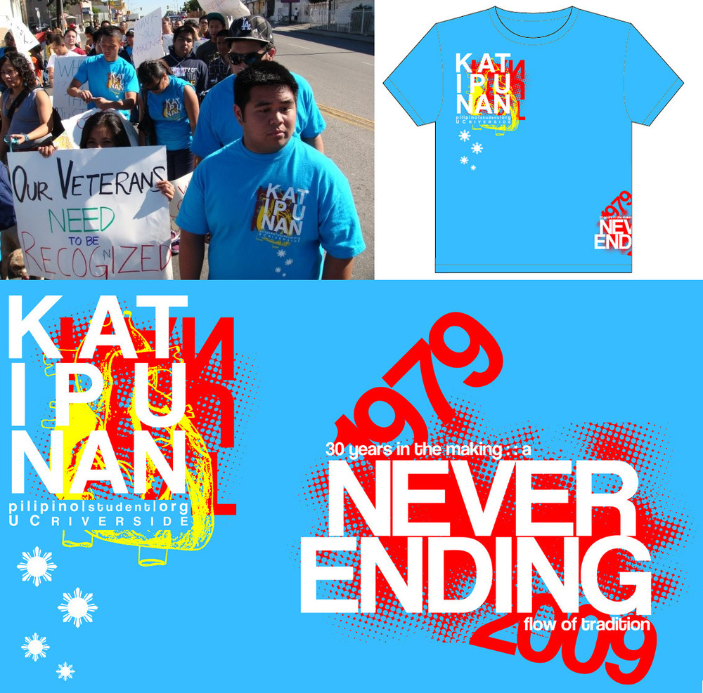 Design for Katipunan Pilipino Student Organization at UC Riverside (2009)