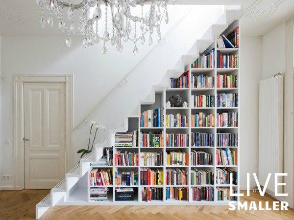 stairway hidden bookshelf