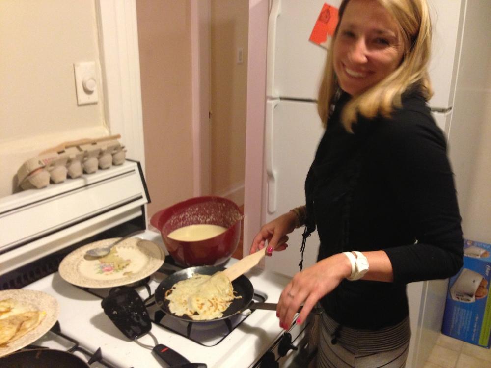 Bretlyn Making Crepes