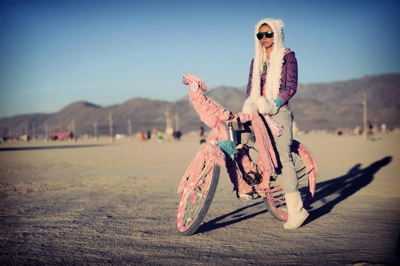Burning Man Bike Fuzzy Pink Bike