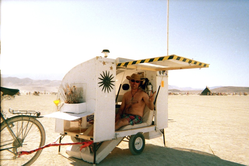 Burning Man Bike Trailer House