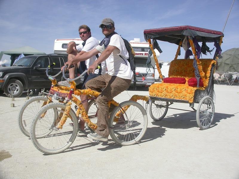 Burning Man Bike Pedi Cab