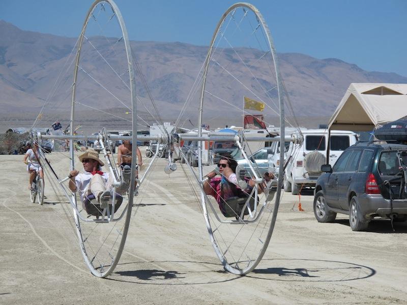 Burning Man Bike Dueling Unicycle