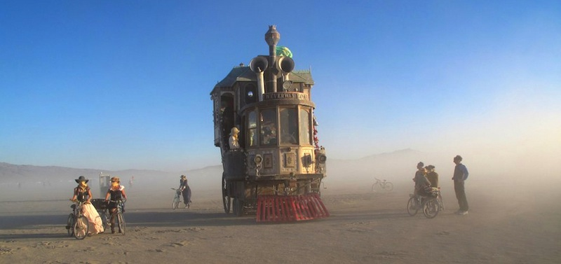 burning man art recycled mobile victorian