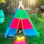 Rainbow Teepee Tent