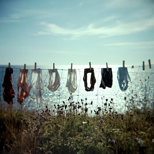 sea clothes hanging