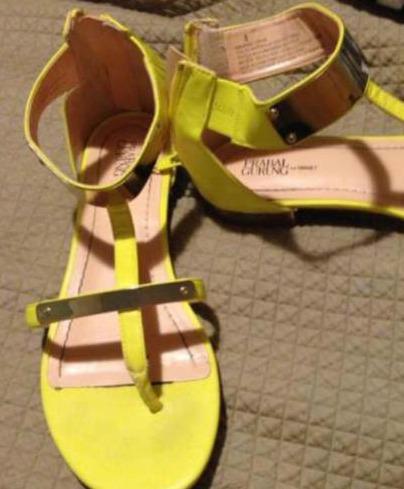 Dina - yellow Sandals