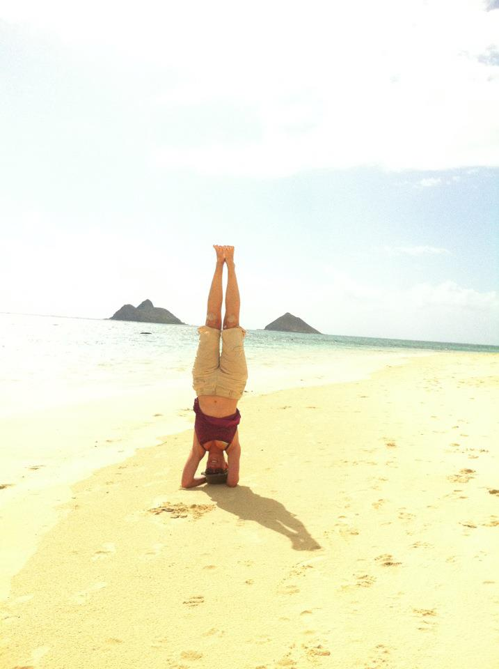 Headstand in Lanikai May 2012