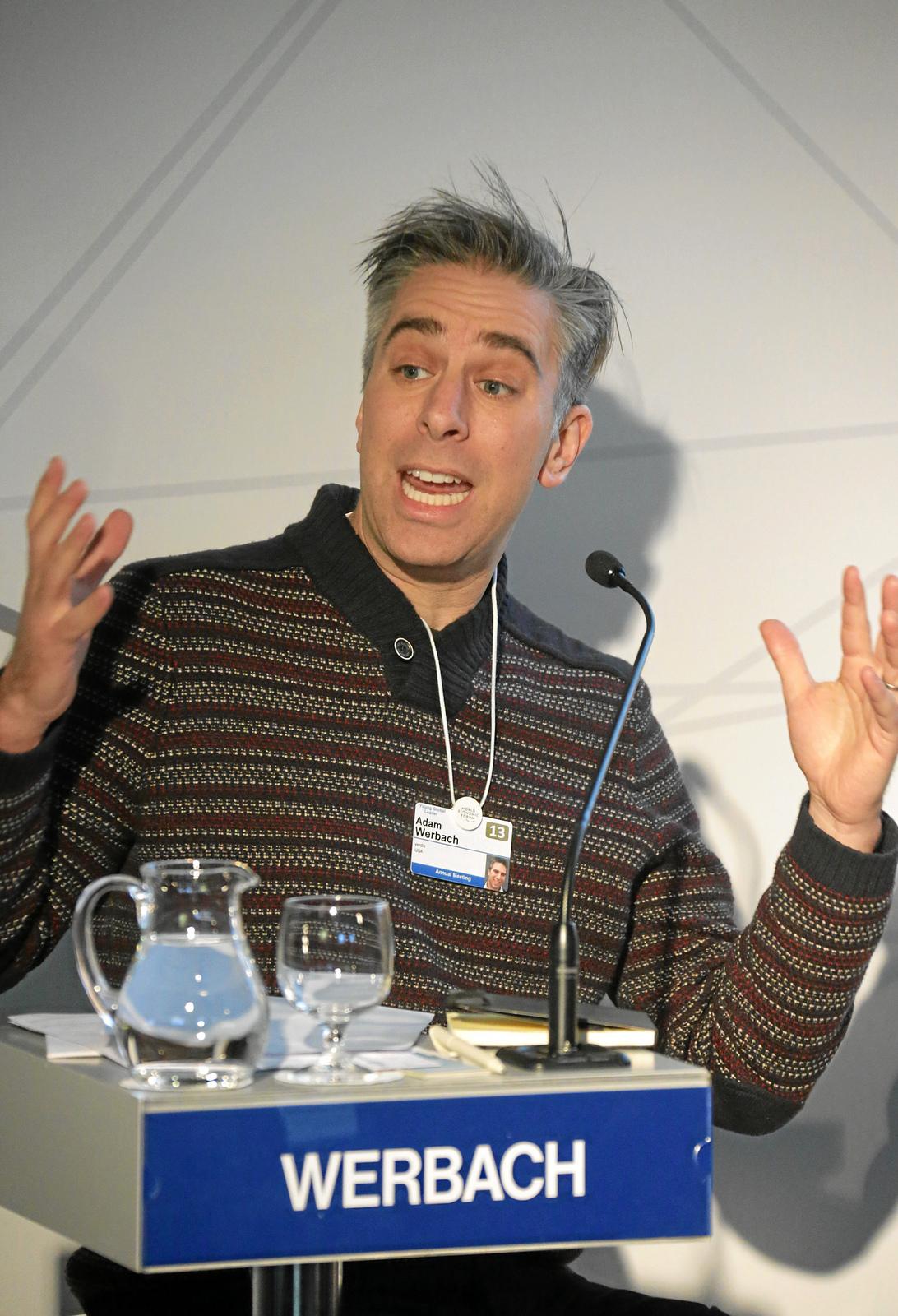 adam speaking at Davos