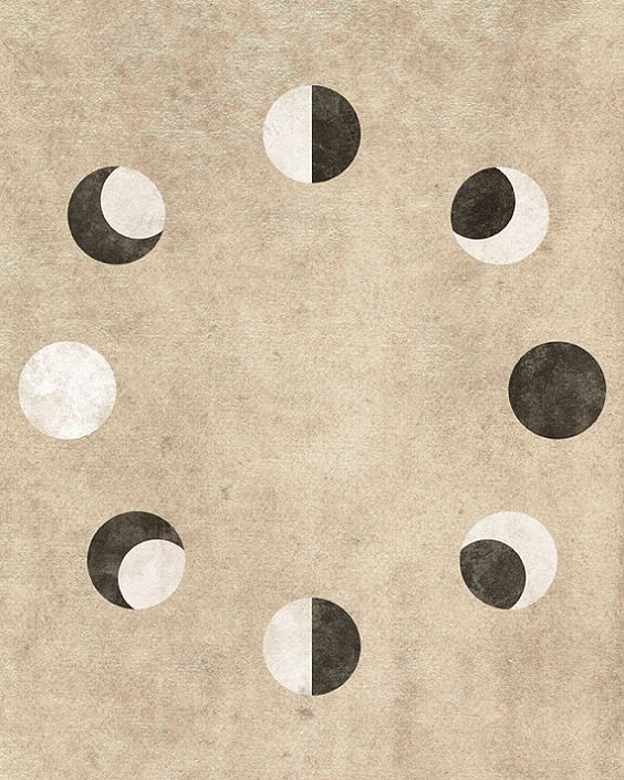 Moon Phases Art by CE Photo Graphics