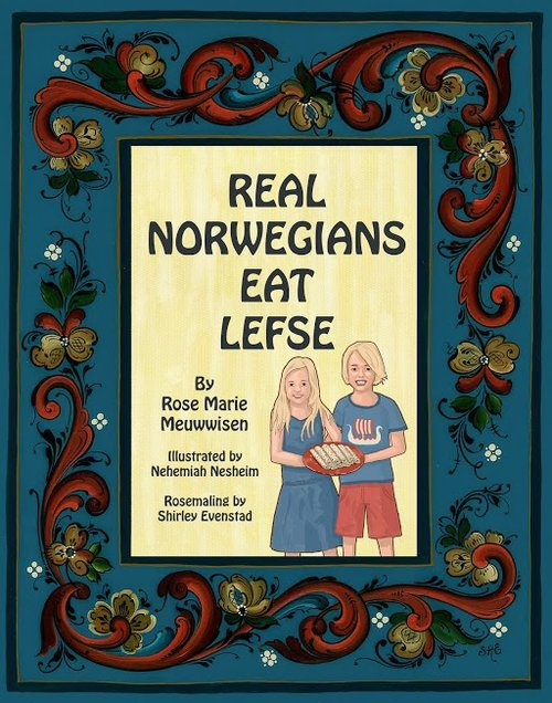 "Real Norwegians Eat Lefse - Ancestry and heritage are important for our children and the purpose of this children's book is to provide both in an inviting and mind provoking way. Lefse is known throughout the United States and Scandinavia as an old traditional food of our Scandinavian forefathers. The book provides a Lefse recipe with an engaging story about a young boy and girl's first cooking lesson to make this traditional dessert, Lefse. Follow their path to becoming ""Real Norwegians"". The story is presented in both English and Norwegian, allowing both children and adults the opportunity to learn the Norwegian language.Enjoy the story, learn Norwegian and try a totally different kind of Norwegian dessert—Lefse! And always remember—Real Norwegians Eat Lefse!"