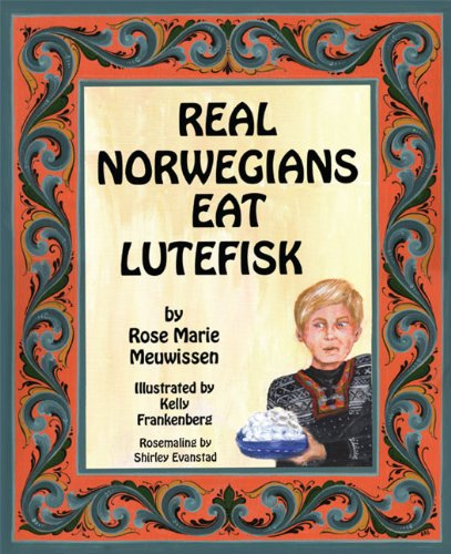 "Real Norwegians Eat Lutefisk - Real Norwegians Eat Lutefisk, a children's book about the tradition of Lutefisk in both English and Norwegian, is her first published book.Ancestry and heritage are important for our children and the purpose of this children's book is to provide both in an inviting and mind provoking way. Lutefisk is known throughout the United States and Scandinavia as an old traditional food of our Scandinavian forefathers. The book provides a Lutefisk recipe with an enticing and humorous story about a young boy's first acquaintance with this strange type of Cod fish. Follow his path to becoming a ""Real Norwegian"". The story is presented in both English and Norwegian, allowing both children and adults the opportunity to learn the Norwegian language.Enjoy the story, learn Norwegian and try a totally different kind of fish—Lutefisk! And always remember—Real Norwegians Eat Lutefisk!"