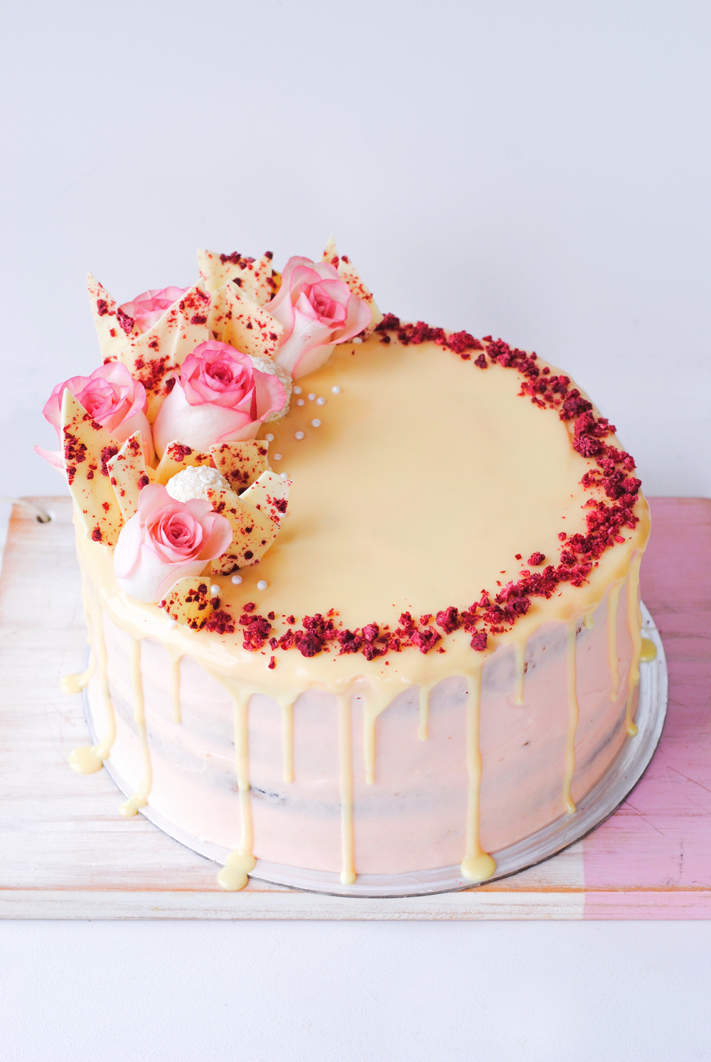 white chocolate cake raspberry white chocolate amp rhubarb layer cake the 1314
