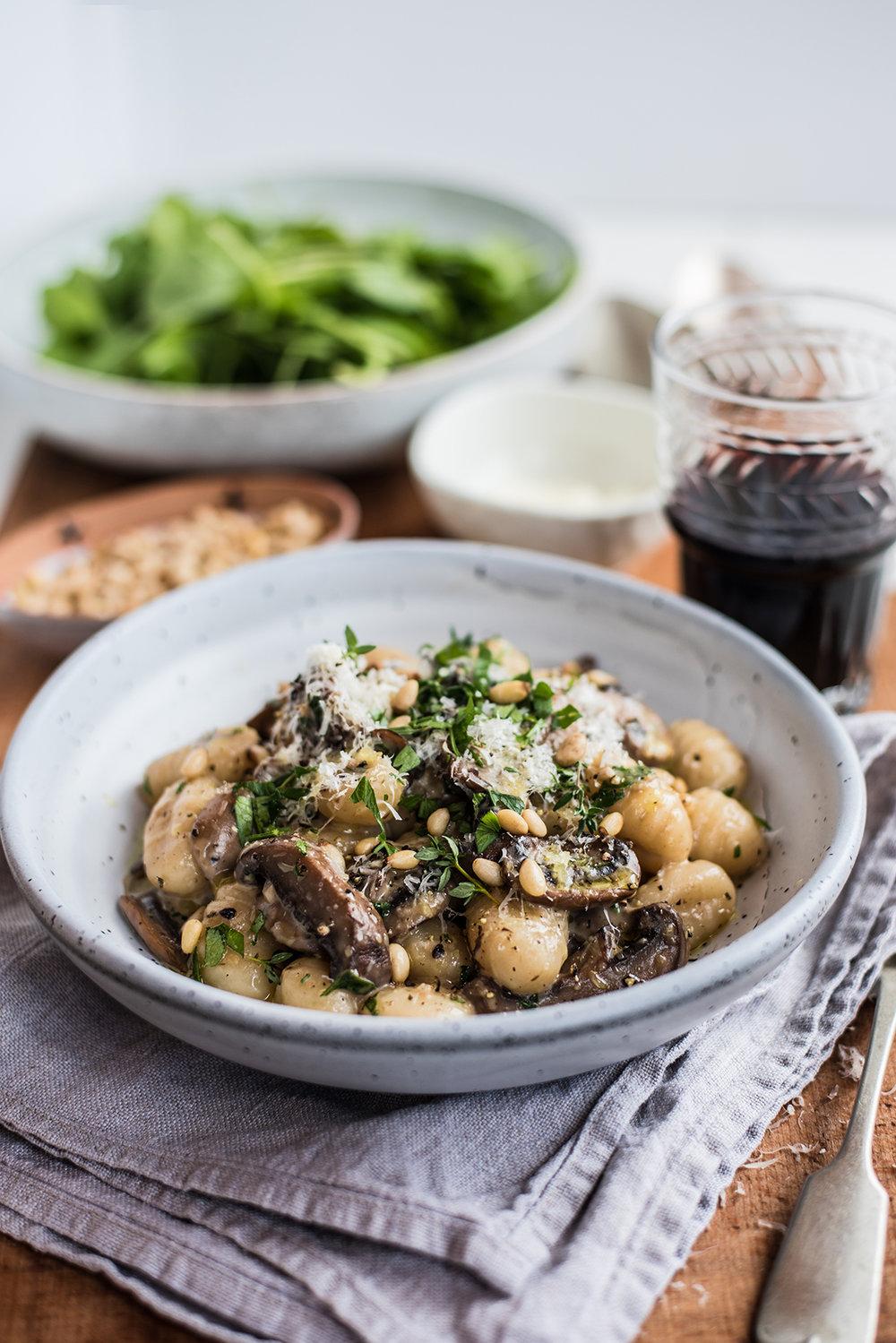 Creamy Mushroom & Garlic Gnocchi