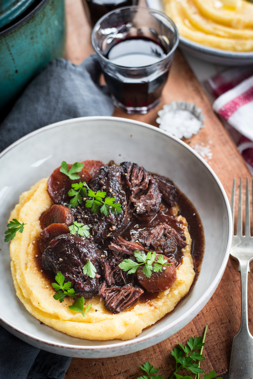 Beef Cheeks with Parmesan Polenta