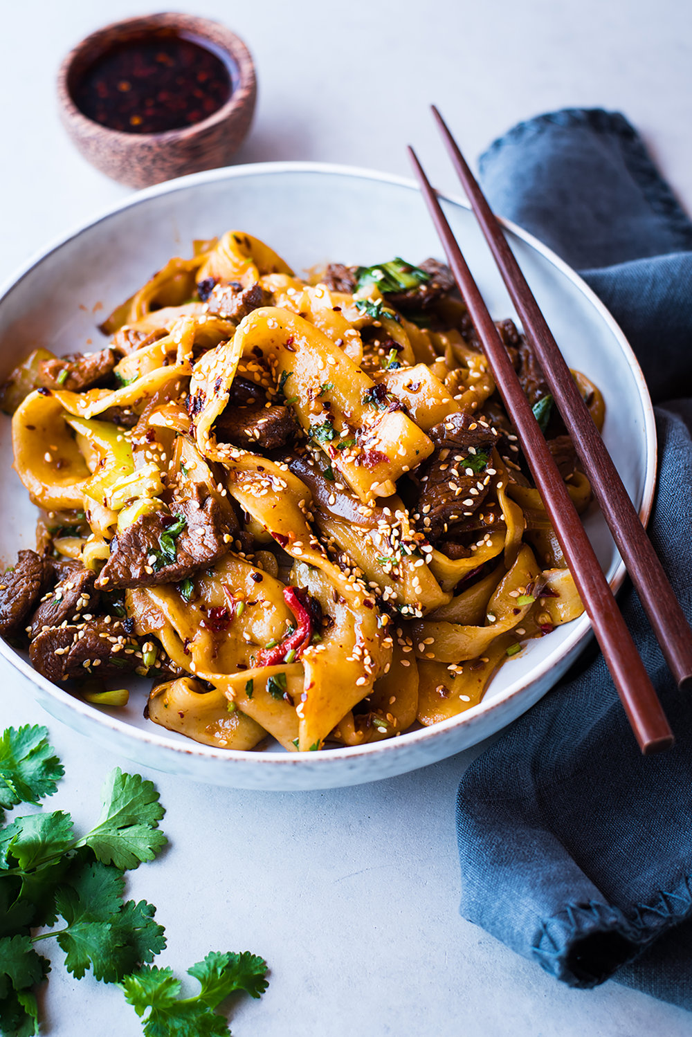 Hand Pulled Noodles with Spicy Cumin Lamb