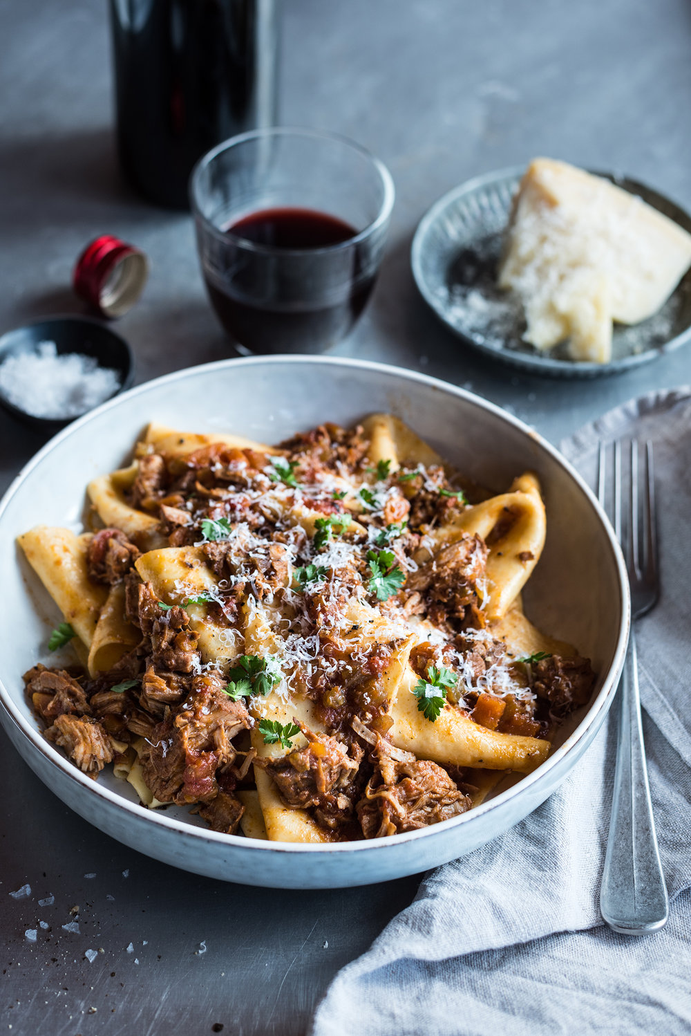 Pork Ragu with Fresh Pappardelle Pasta