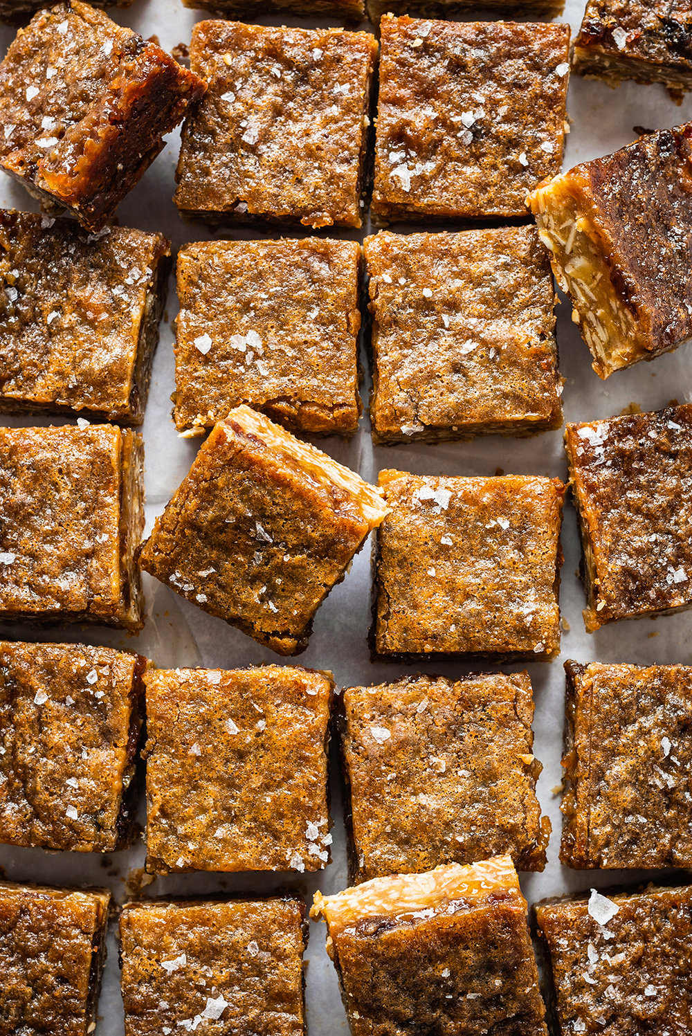 CHEWY OAT & COCONUT BUTTER BARS - A fabulously chewy toffee slice with a great balance of sweet and salty and soft and chewy. I played with this recipe for a few months before I was totally satisfied with it. It is an adaptation of a great New York Times recipe but I am partial to a chewy base!