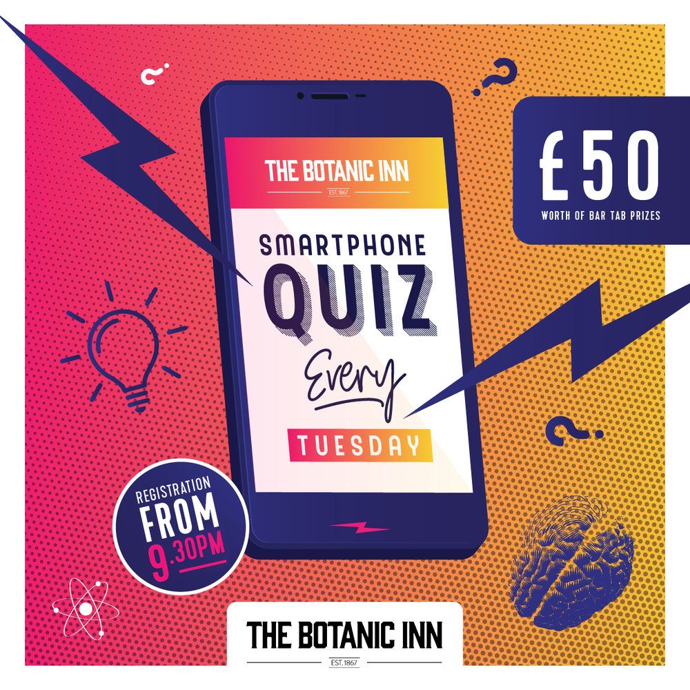 Smartphone Quiz, The Botanic Inn