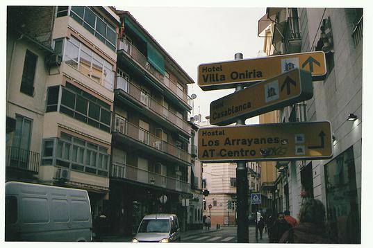 Street signs in Granada, Spain.