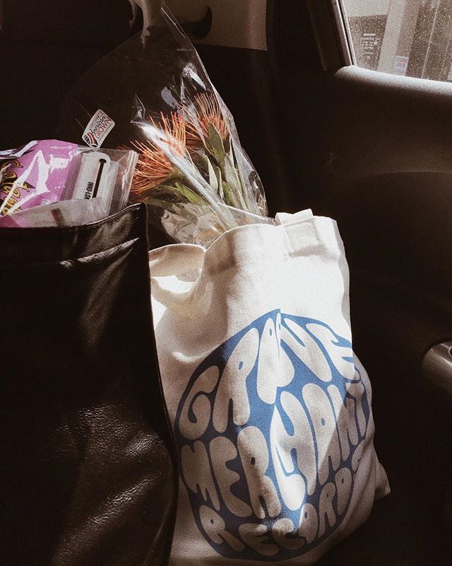 Our groceries look way cooler on the way home now 〰️