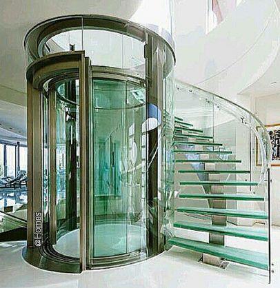 Produzione ascensore in cristallo