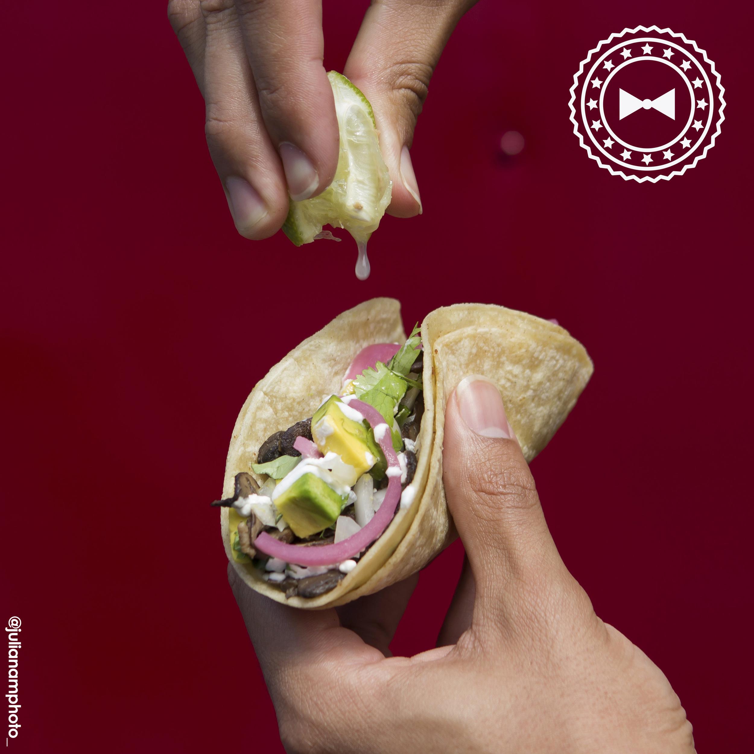 Taco vegetariano, de La Taquería
