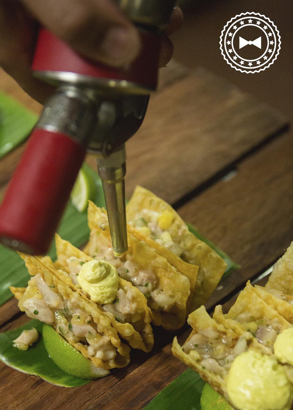 Tacos de ceviche de dorado