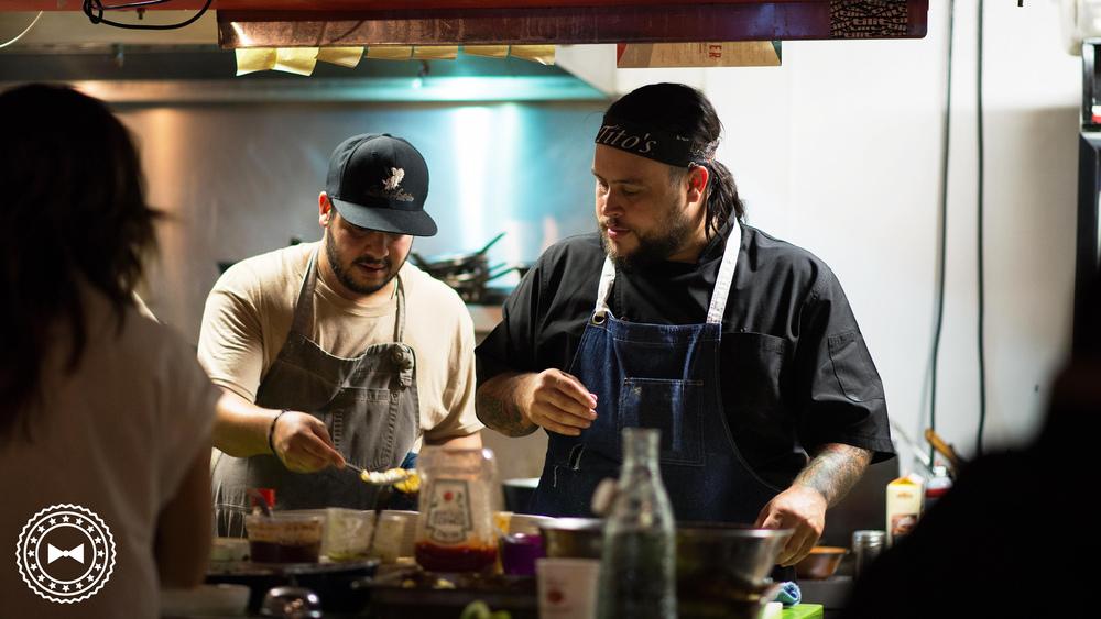 Chef Rosa de SODA y Chef Díaz de Cosechas