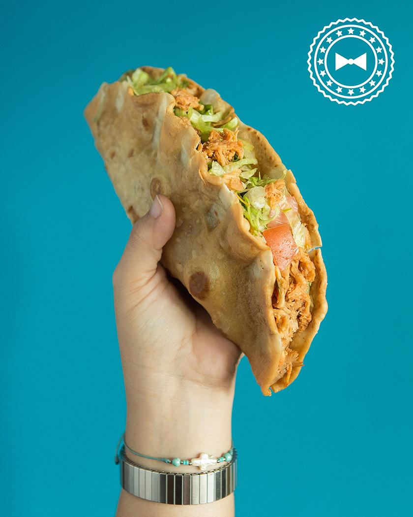 Taco de pollo, Rico Taco, Ave. Alers, Aguada