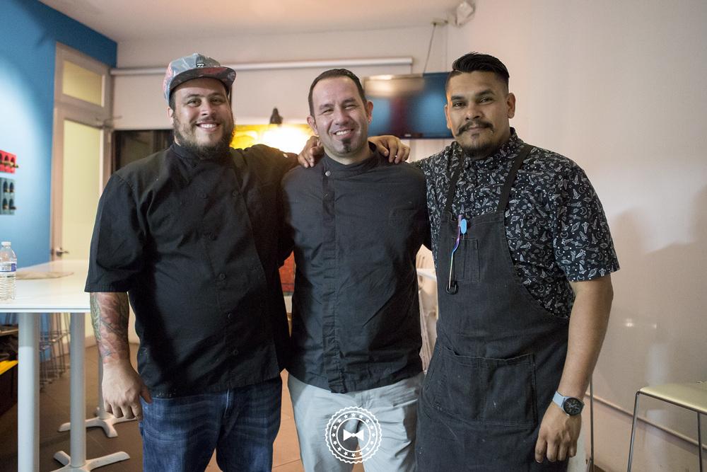 Chefs: Héctor Rosa, Pedro Torres y Álvaro Sosa