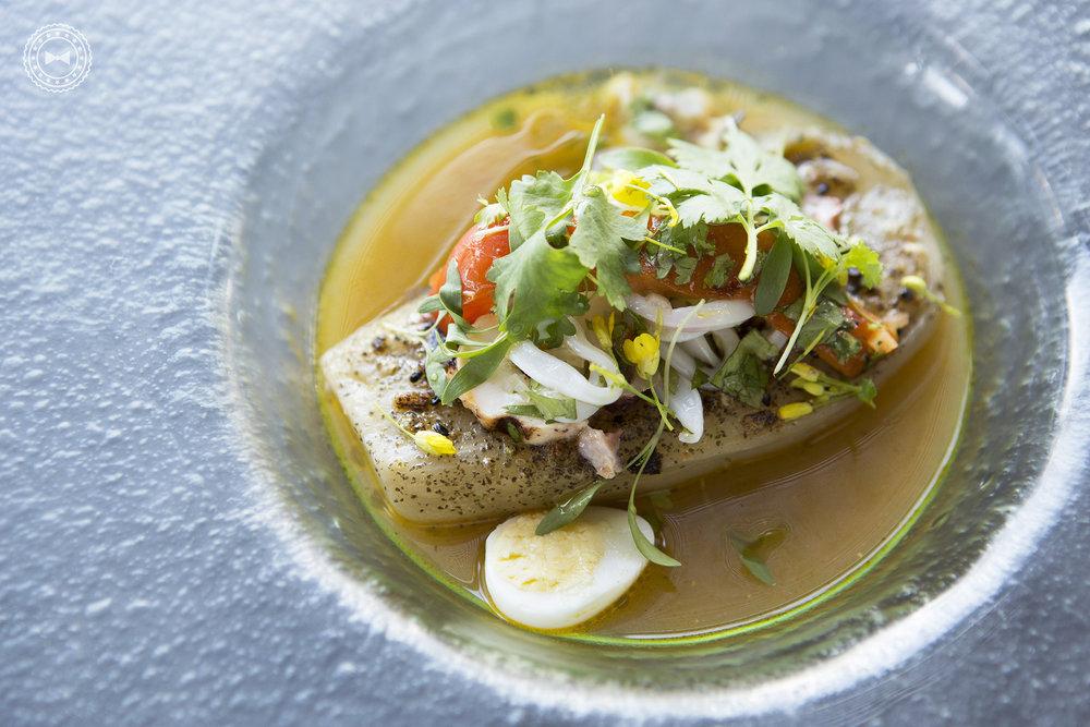 Eggplant & Seafood Salad