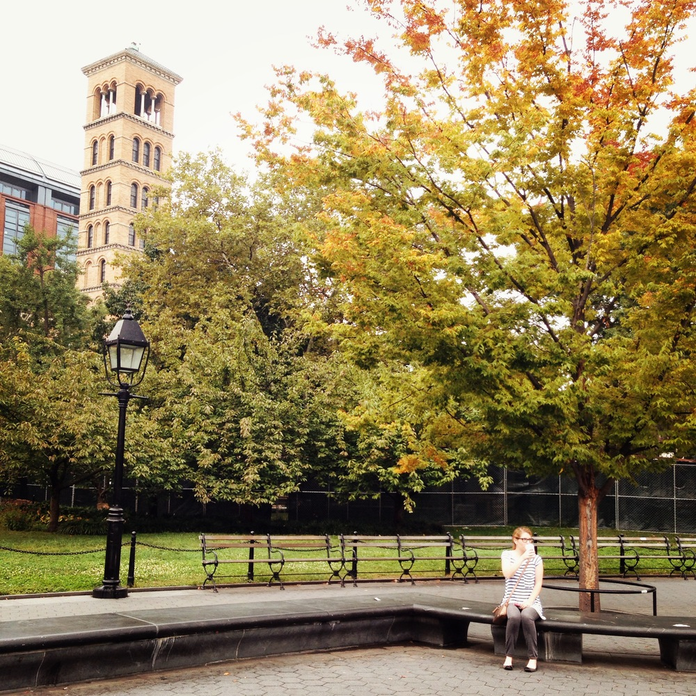 Me in Washington Square Park this Weekend. Taken by Juan-Carlos Lagares.
