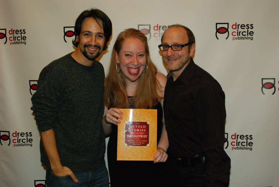Jen with Lin-manuel miranda and lONNY PRICE