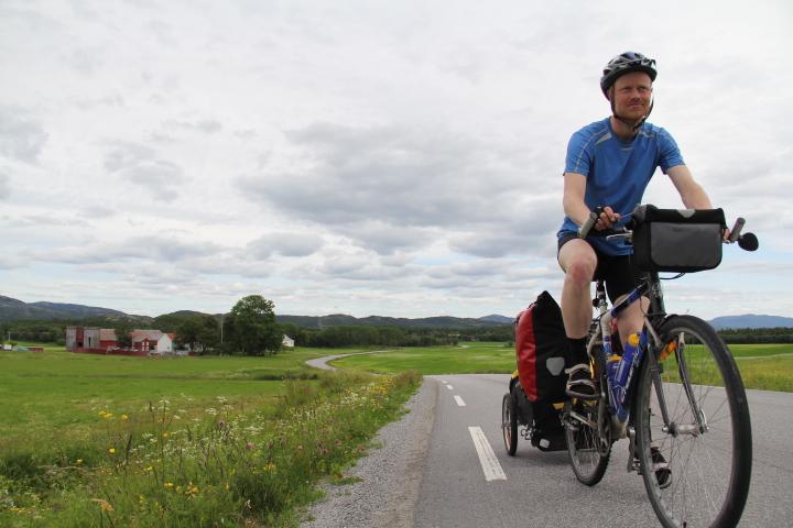 På sykkel langs Kystriksveien