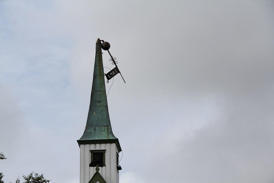 Knekt kirkespir på Leka.
