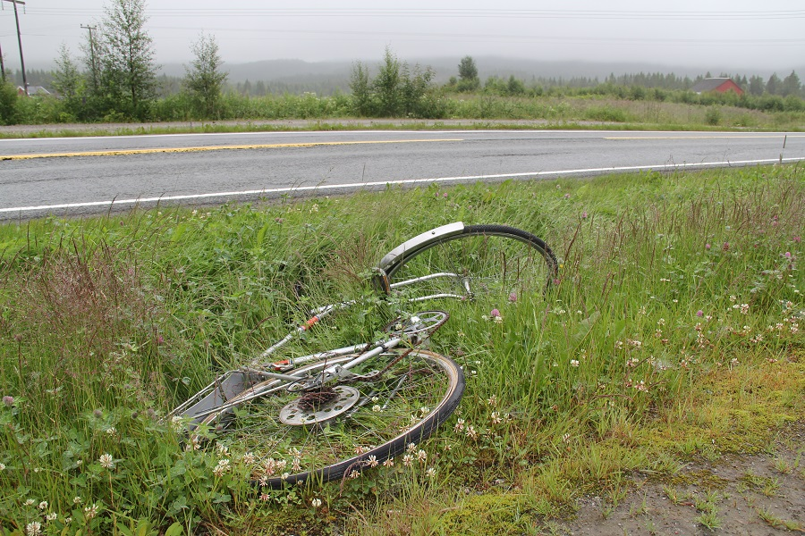 Forlatt sykkel.
